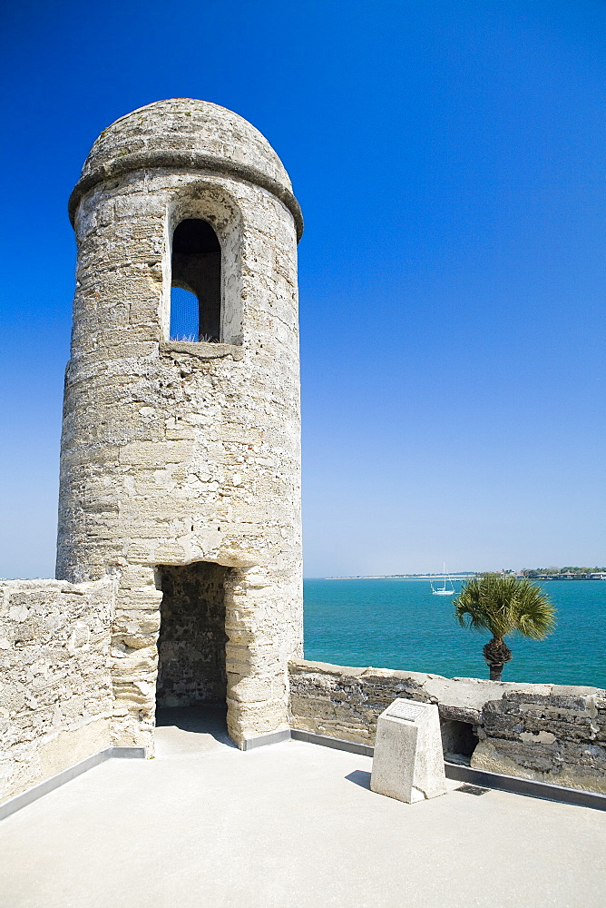 Facade of a lookout tower, Castillo De San Marcos National Monument, St.Augustine, Florida, USA