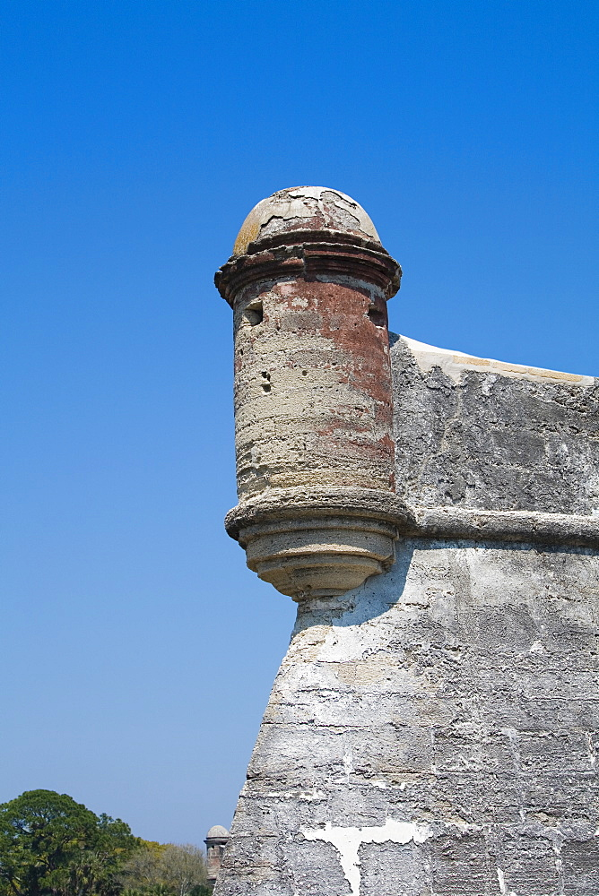 Low angle view of a castle, Castillo De San Marcos National Monument, St. Augustine, Florida, USA