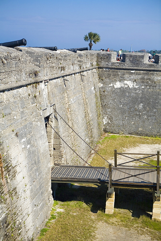 High angle view of a gate, Castillo De San Marcos National Monument, St. Augustine, Florida, USA