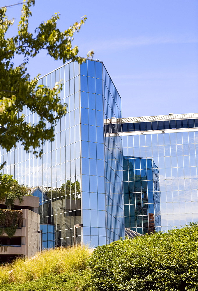 Low angle view of a hotel, Hyatt Regency Hotel, Baltimore, Maryland, USA