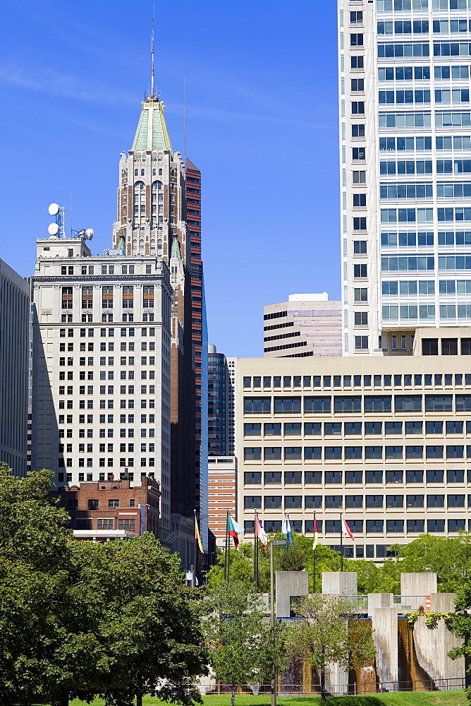 Skyscrapers in a city, Baltimore, Maryland, USA