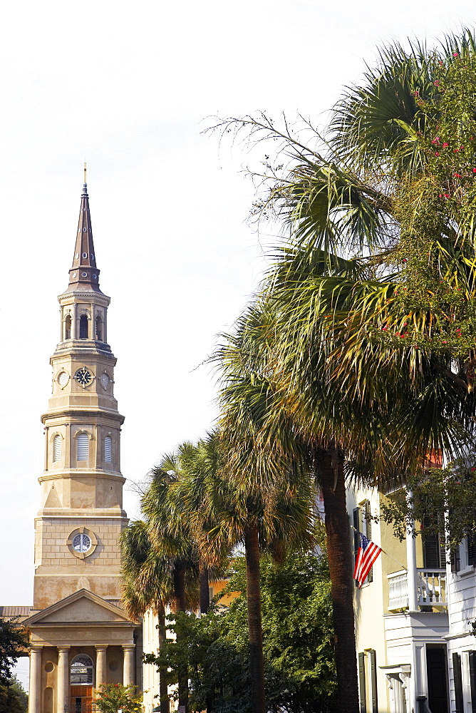 Low angle view of a church, St. Philip's Church, Charleston, South Carolina, USA