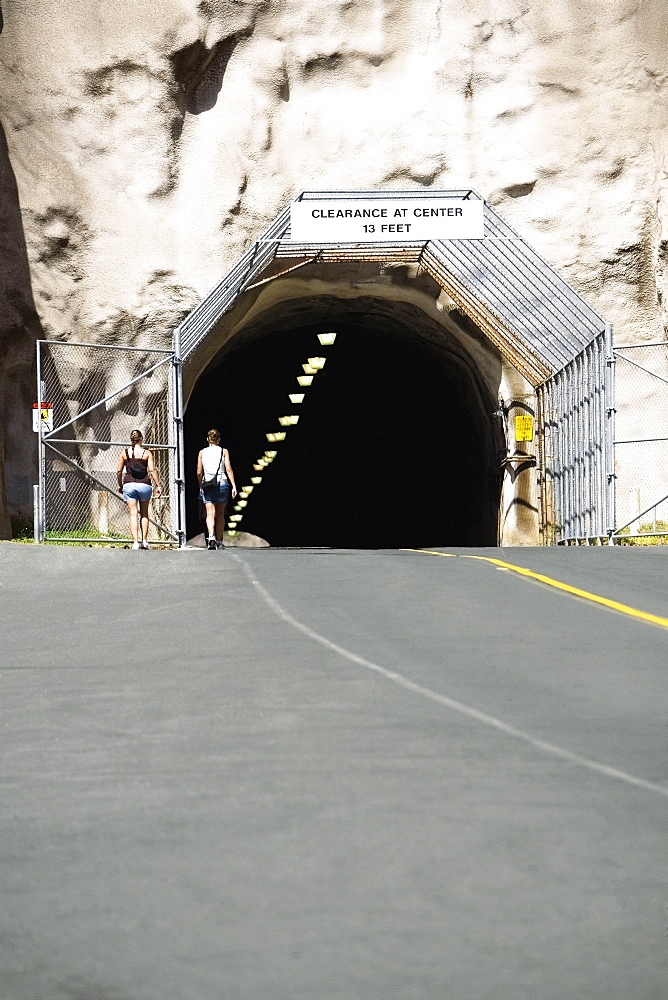 Road passing through a tunnel, Diamond Head, Waikiki Beach, Honolulu, Oahu, Hawaii Islands, USA