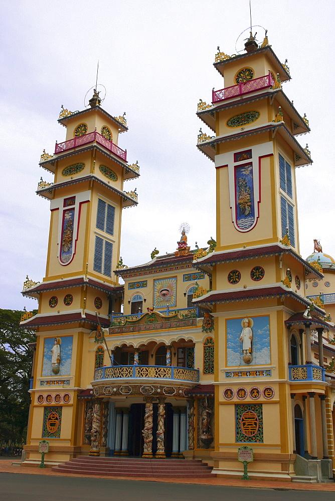 Low angle view of a monastery, Cao Dai Monastery, Tay Ninh, Vietnam