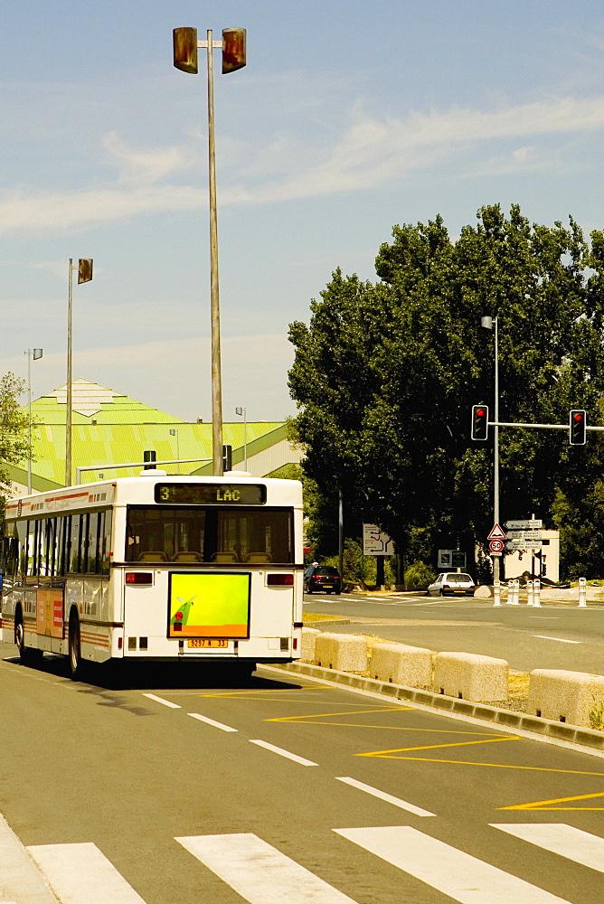 Bus on the road, Bordeaux, Aquitaine, France
