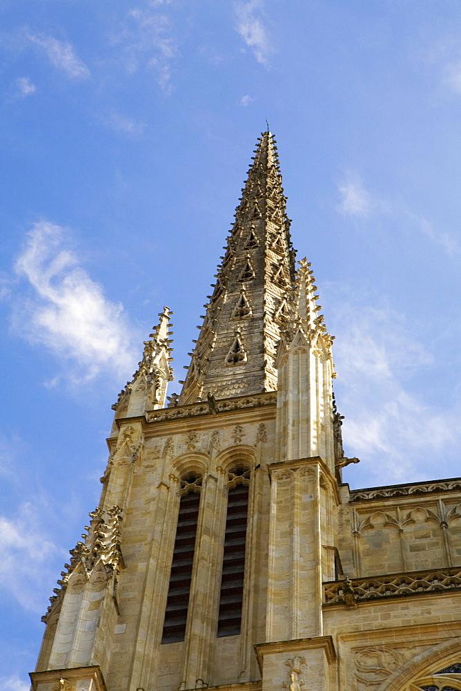Low angle view of a building, Tour Pey Berland, Vieux Bordeaux, Bordeaux, France