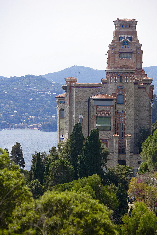 High angle view of a building, Italian Riviera, Liguria, Italy