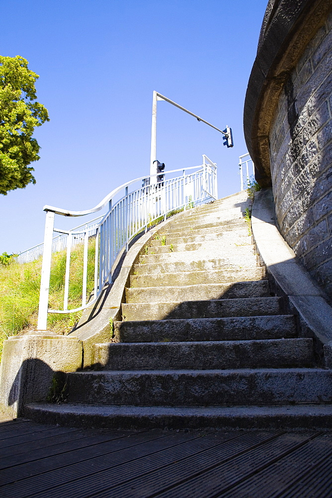 Low angle view of a staircase, Pont Yssoir, Le Mans, Sarthe, France