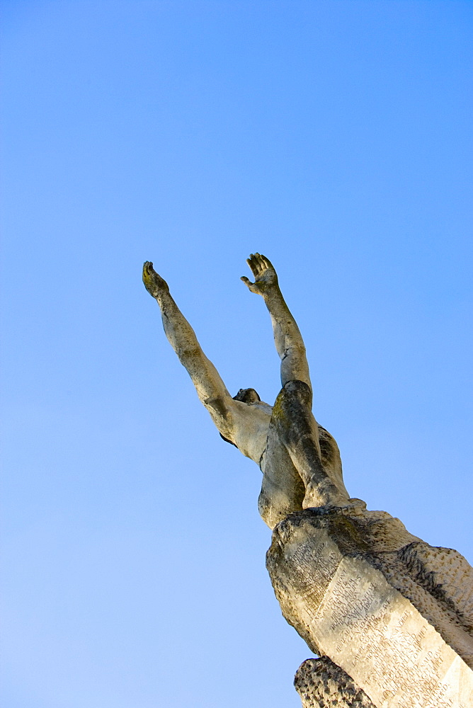 Low angle view of a statue, Le Mans, Sarthe, France