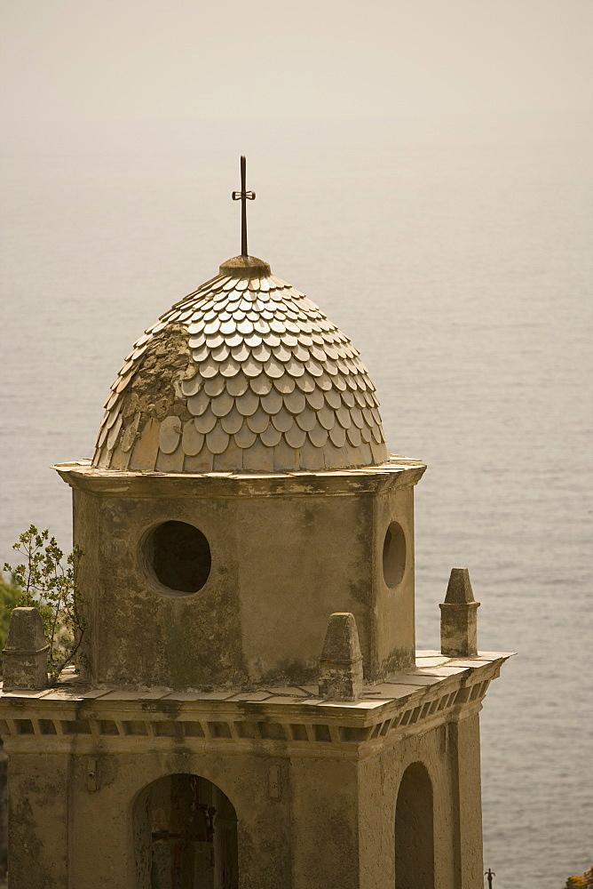 High section view of a church, Church of Santa Margherita d'Antiochia, Italian Riviera, Cinque Terre National Park, Vernazza, La Spezia, Liguria, Italy