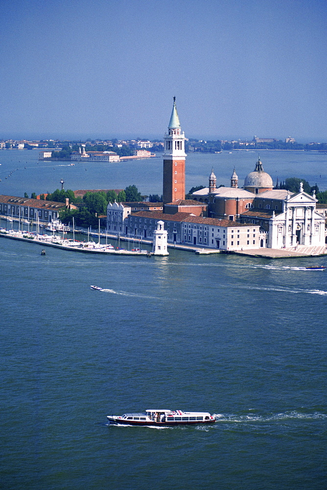 High angle view of a cathedral, St. Mark's Cathedral, San Giorgio Maggiore, Venice, Veneto, Italy