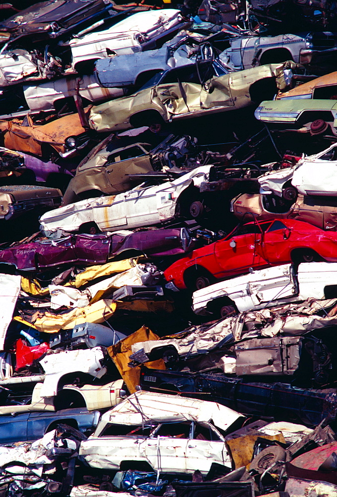 Piles of junk cars, Los Angeles, California - 788-215