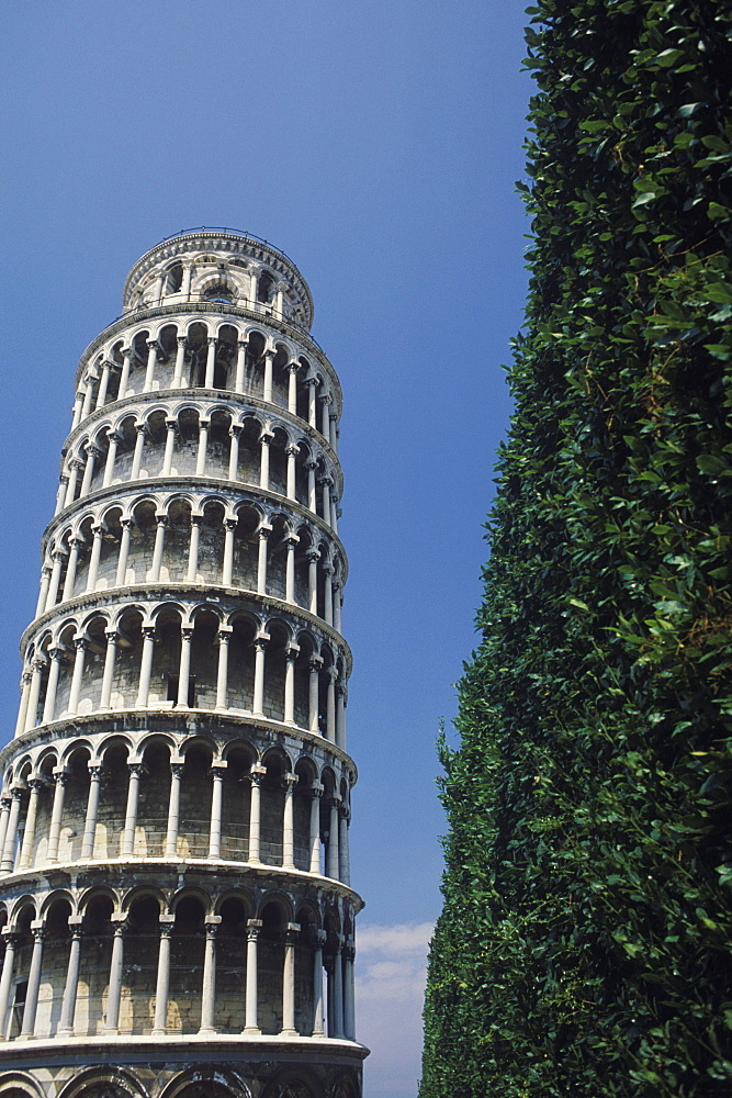 Low angle view of a tower, Leaning Tower Of Pisa, Pisa, Italy