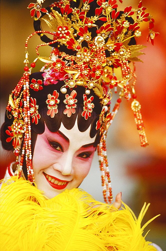 Portrait of a female opera performer, Hong Kong, China