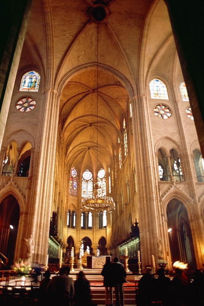 Interior of a church, France