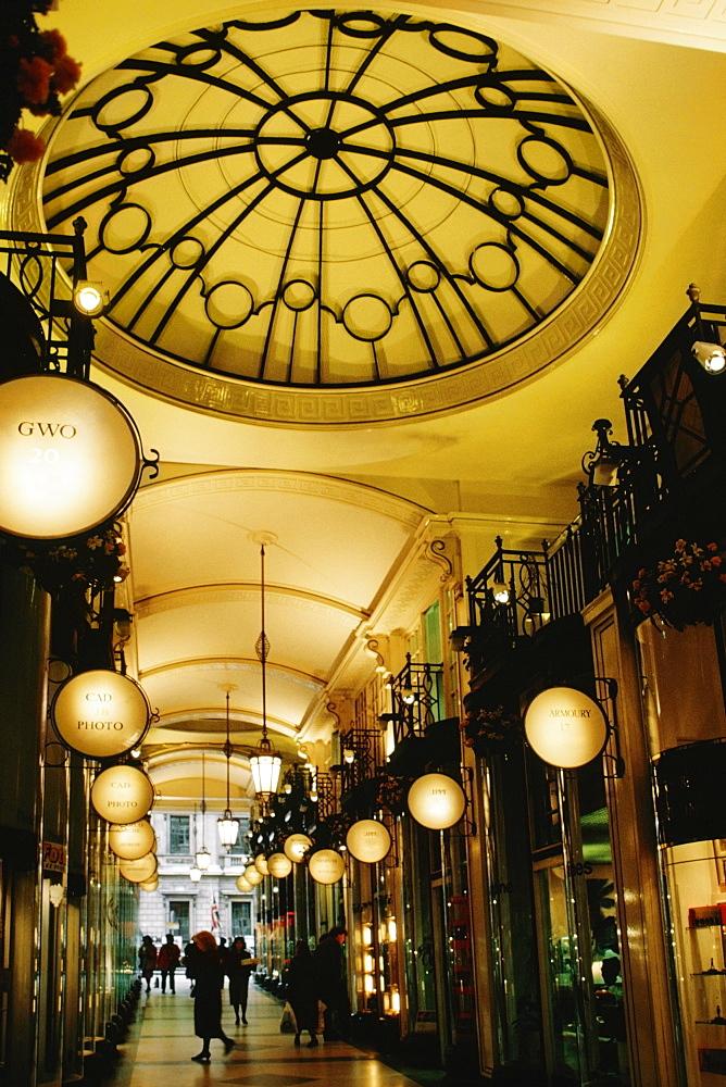 Interior of an arcade, England