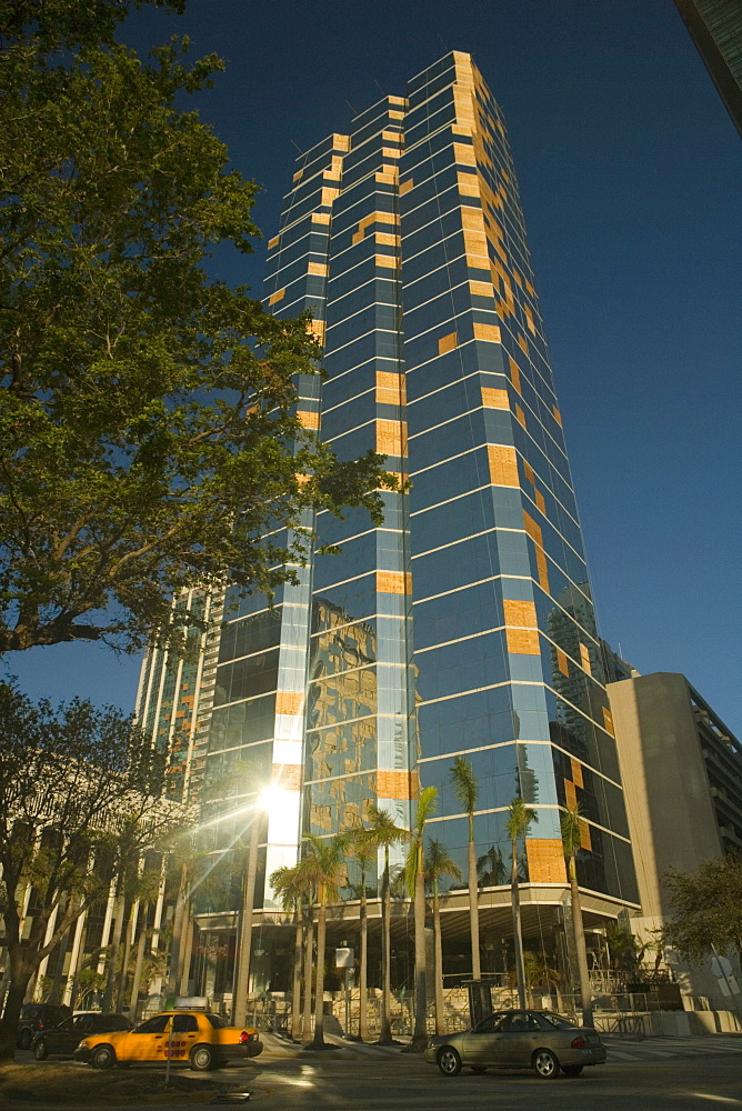 Low angle view of a skyscraper, Miami, Florida, USA