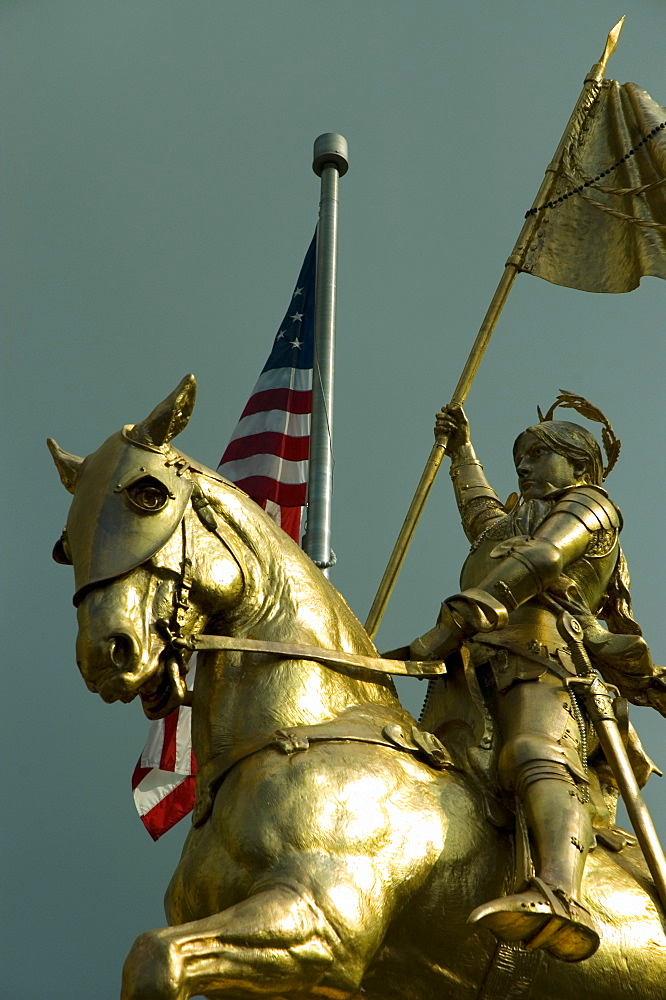 Low angle view of a statue of St. Joan Of Arc, New Orleans, Louisiana, USA