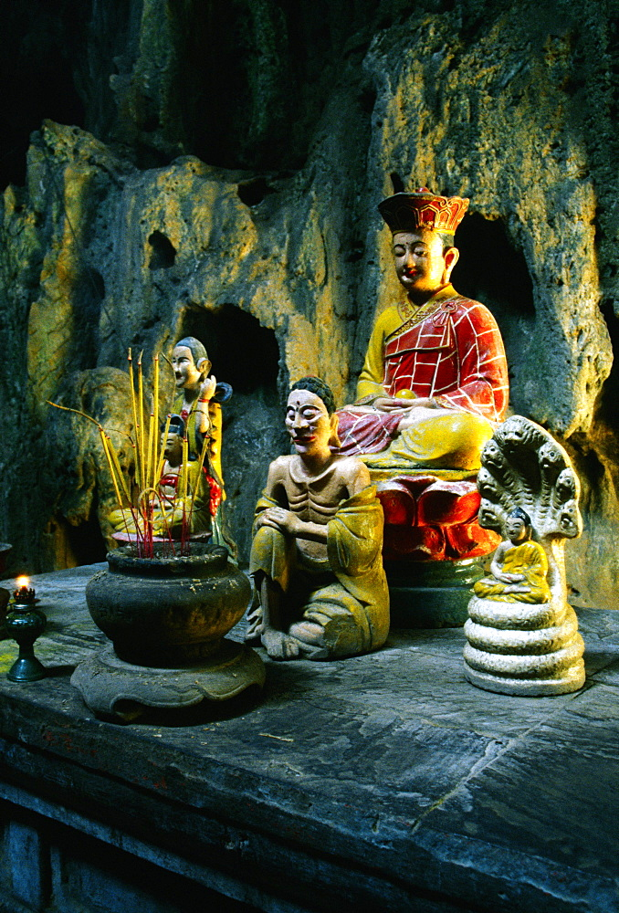 Altar at the Cave temple, Marble Mountain, Danag, Vietnam