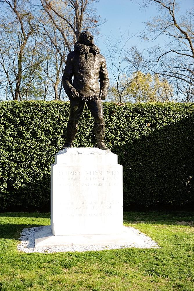 Statue of Admiral Richard Evelyn Byrd, Arlington National Cemetery, Arlington, Virginia, USA