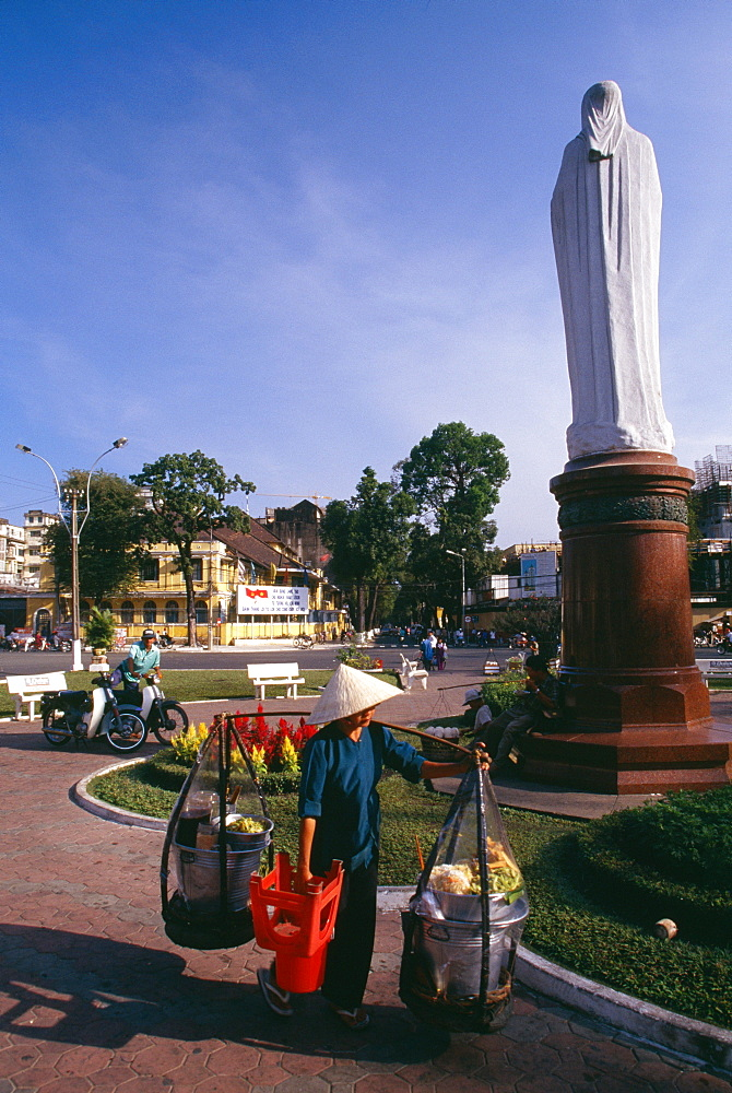 Virgin Mary statue in Ho Chi Minh City (formerly Saigon) Vietnam