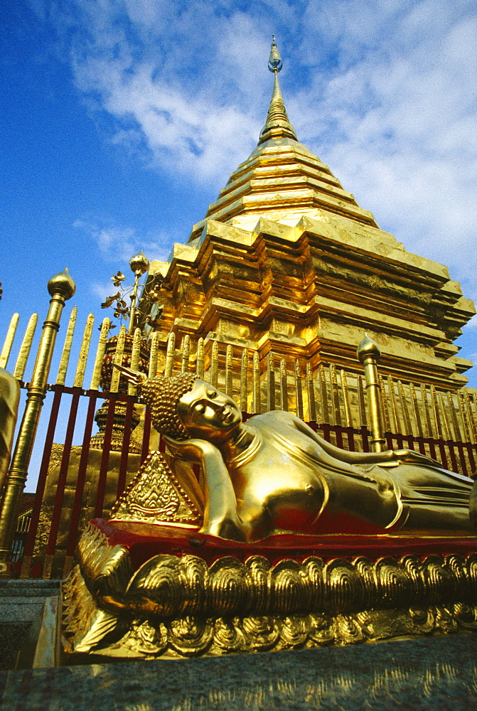 Low angle view of a temple, Chiang Mai, Chiang Mai province, Thailand