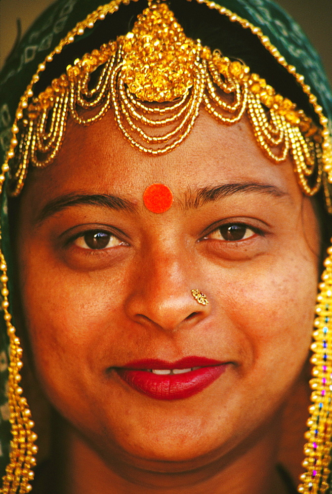 Portrait of a mid adult woman smiling, Jaipur, Rajasthan, India