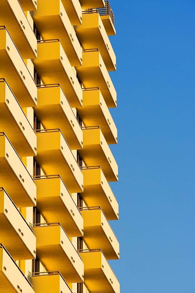 Low angle view of balconies in a building, Miami, Florida, USA - 788-9204