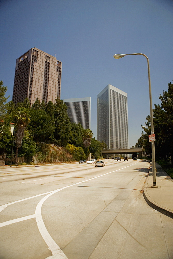 Cars on the road in a city, Sacramento, California, USA