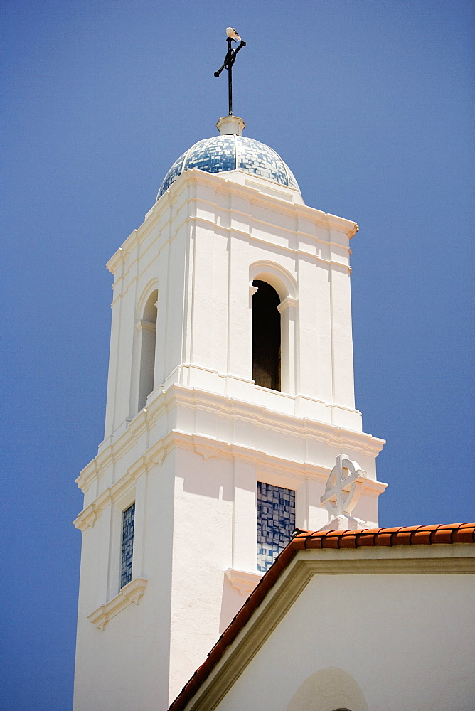 Low angle view of a church, St James by the sea, Episcopal Church, La Jolla, San Diego, California, USA