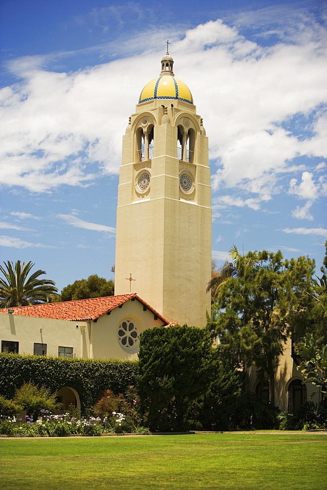 Facade of a school, Bishop's School, La Jolla, San Diego, California, USA