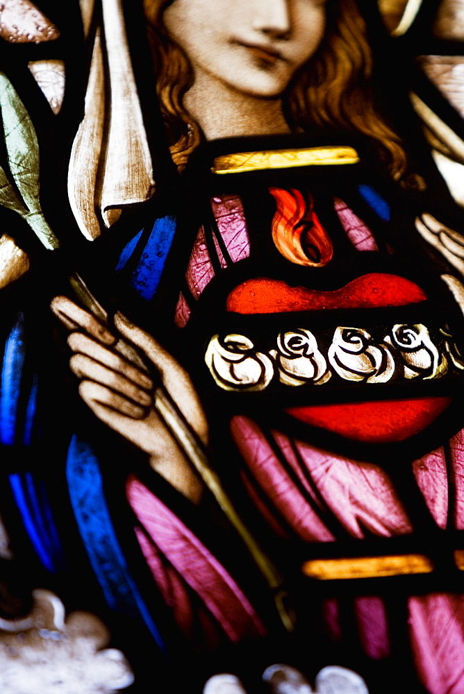 Close-up of Virgin Mary giving blessing