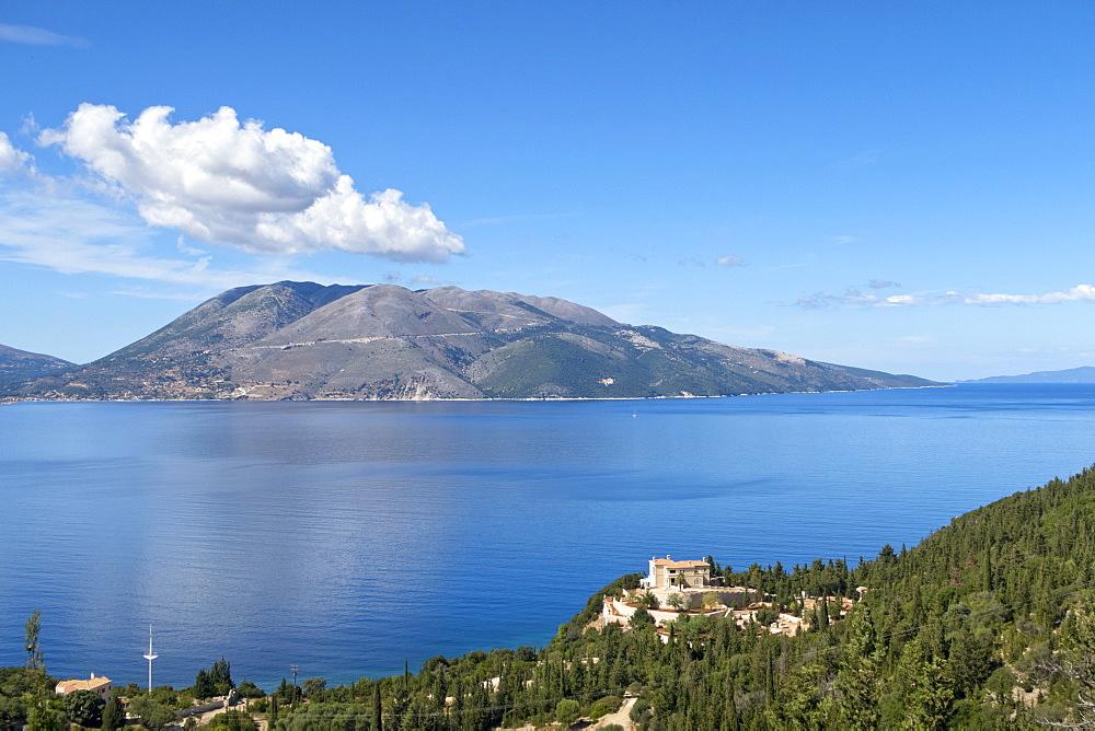 Scenic view of Ionian islands, Kefalonia, Greece