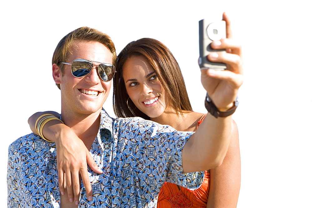 Cut Out Of Couple Taking Picture Of Themselves With Cameraphone