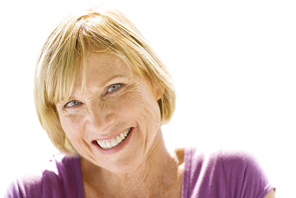 Cut Out Of Smiling Middle Aged Woman