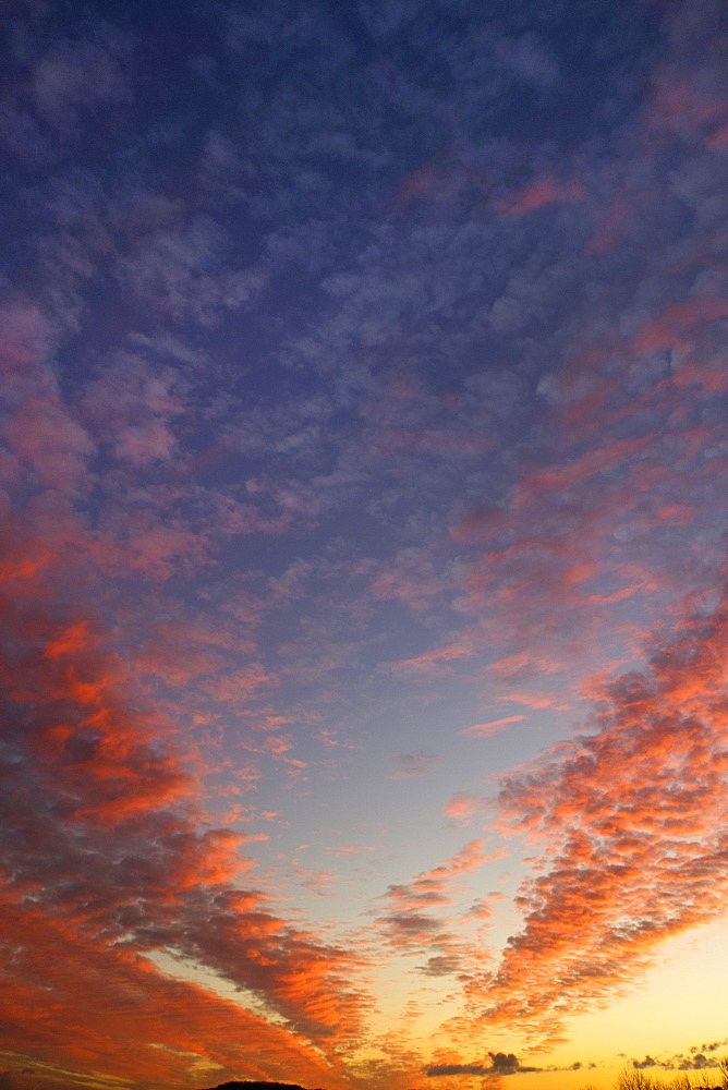 Dramatic sunset sky with multicolor clouds - 786-10297