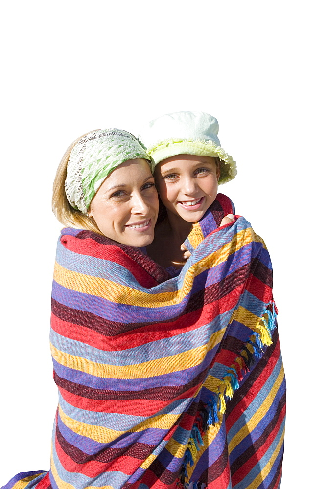 Cut Out Of Mother Wrapping Son In Towel