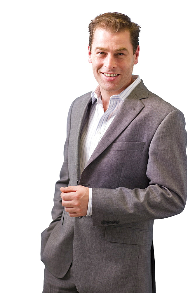 Cut Out Of Middle Aged Male Executive Wearing Suit
