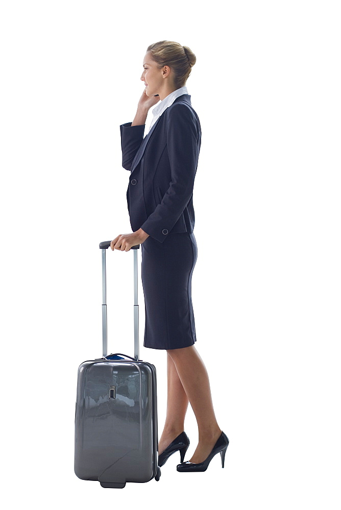 Cut Out Of Female Executive Going On Business Trip
