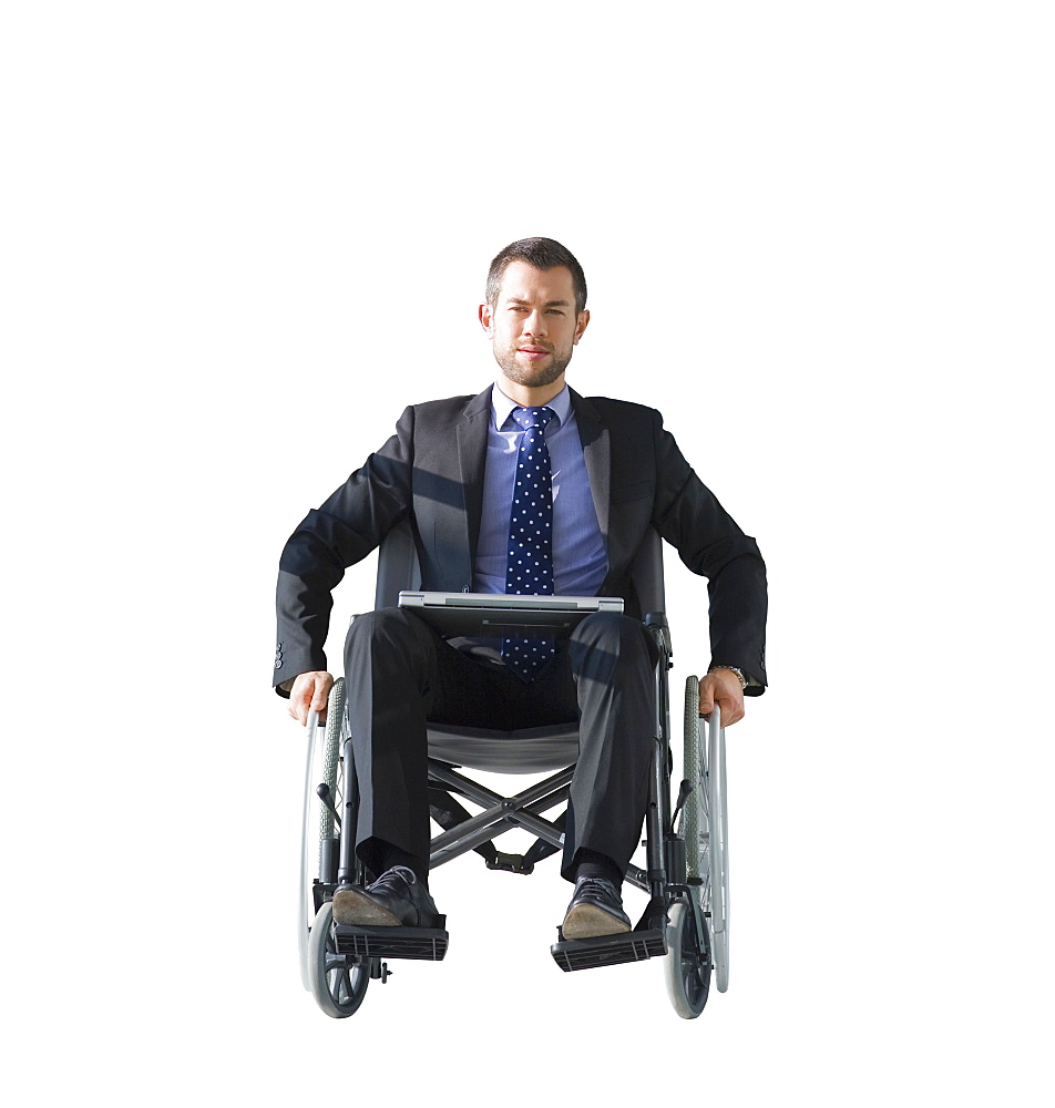 Cut Out Of Male Executive In Wheelchair