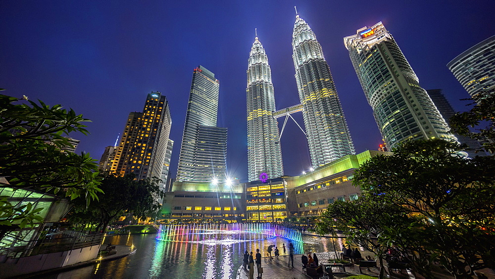 Kuala Lumpur city at night, tall towers and skyscrapers - 1174-4441