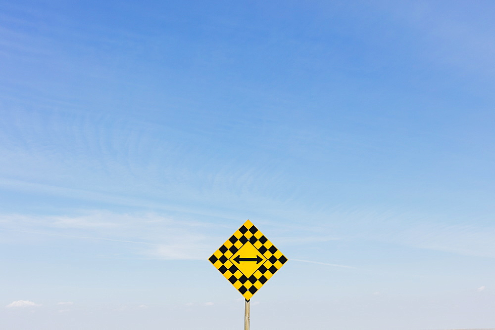 Arrow intersection sign, Saskatchewan, Canada