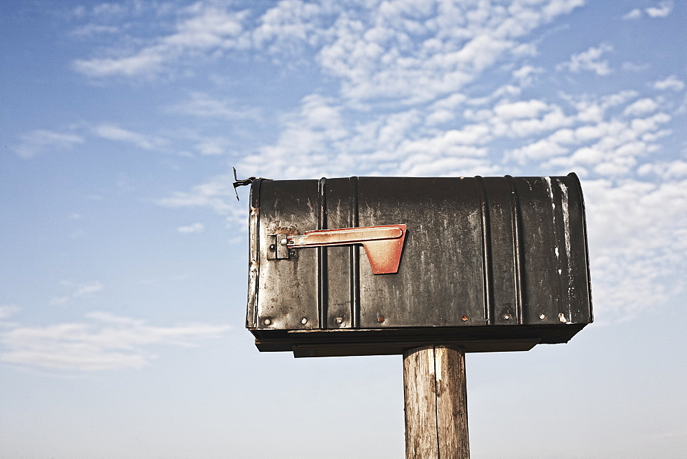 Mailbox On a Wooden Post, Washington, United States of America