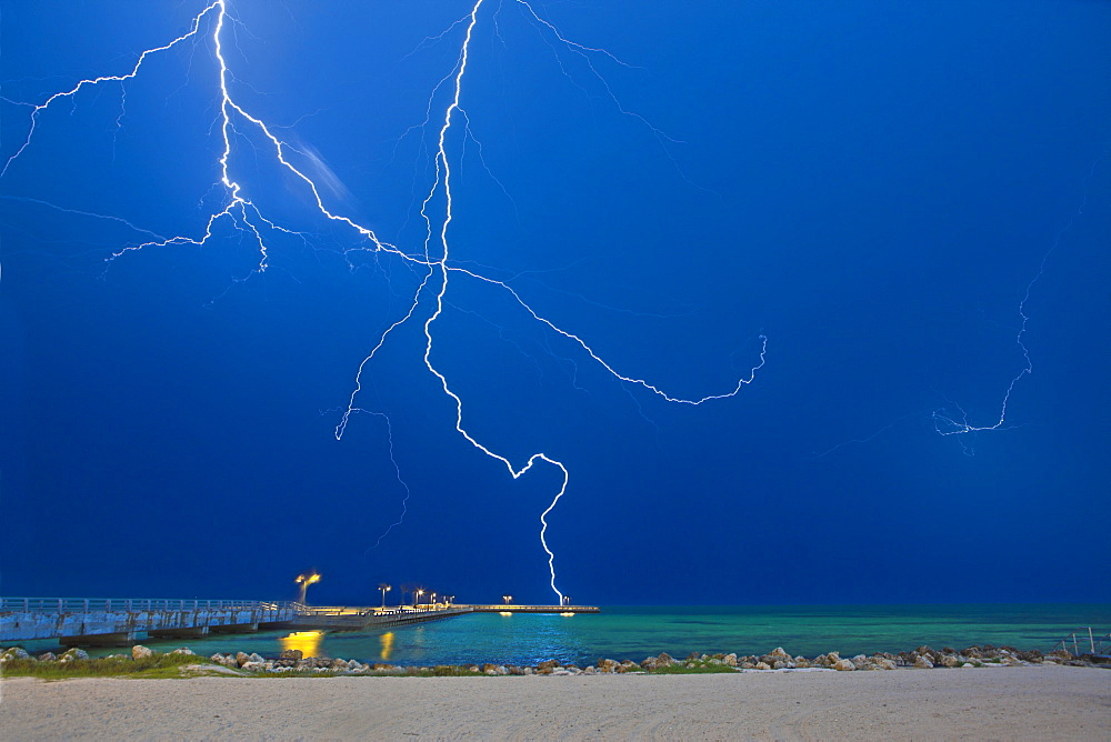 Lightning at the Beach, Key West, Florida, United States of America