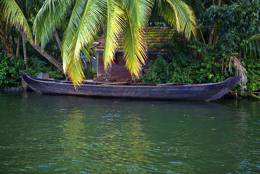Boat on River, Alleppey, Kerala, India