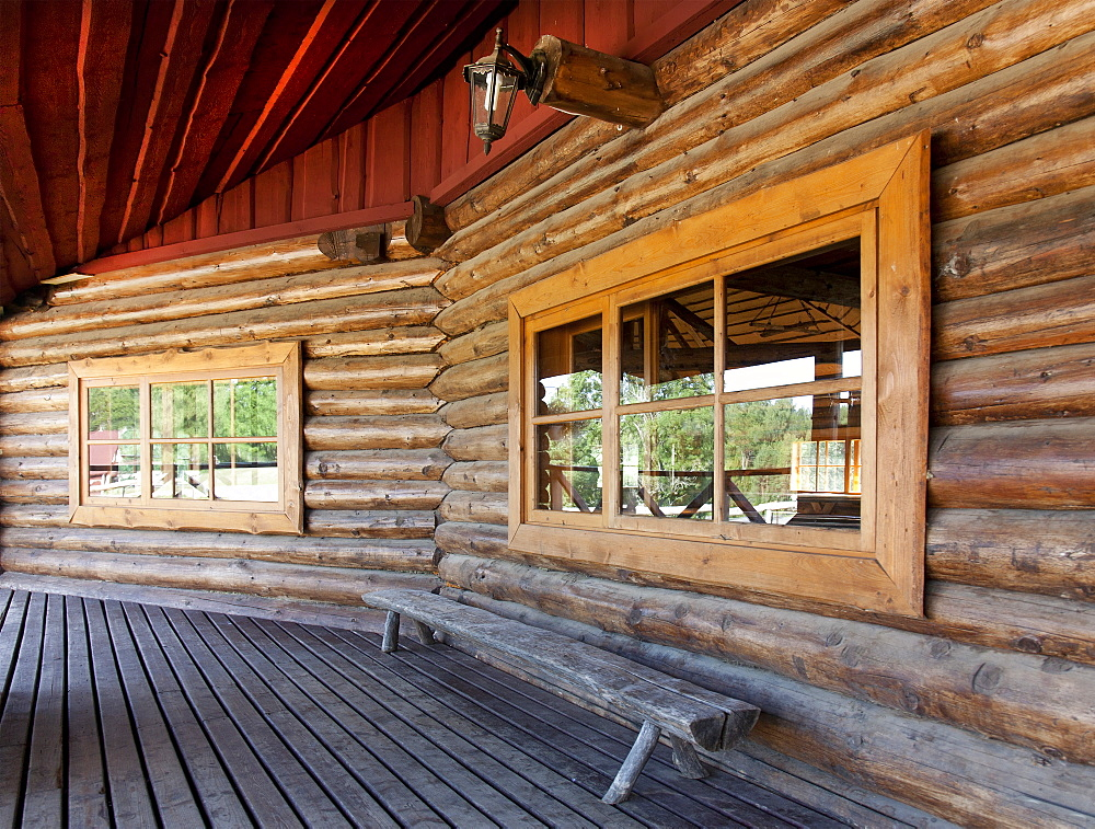 Wooden Porch at a Resort, Estonia