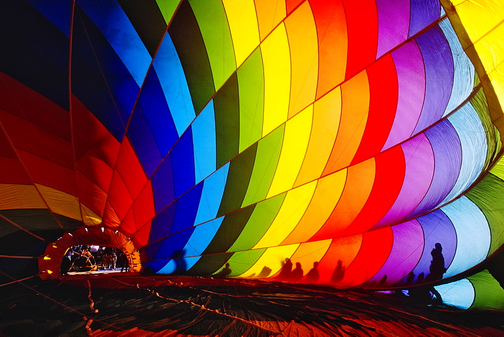 Inflating a Hot Air Balloon, Albuquerque, New Mexico, United States of America