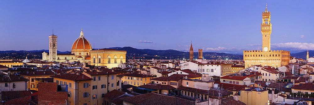 Florence Skyline at Dusk, Florence, Tuscany, Italy