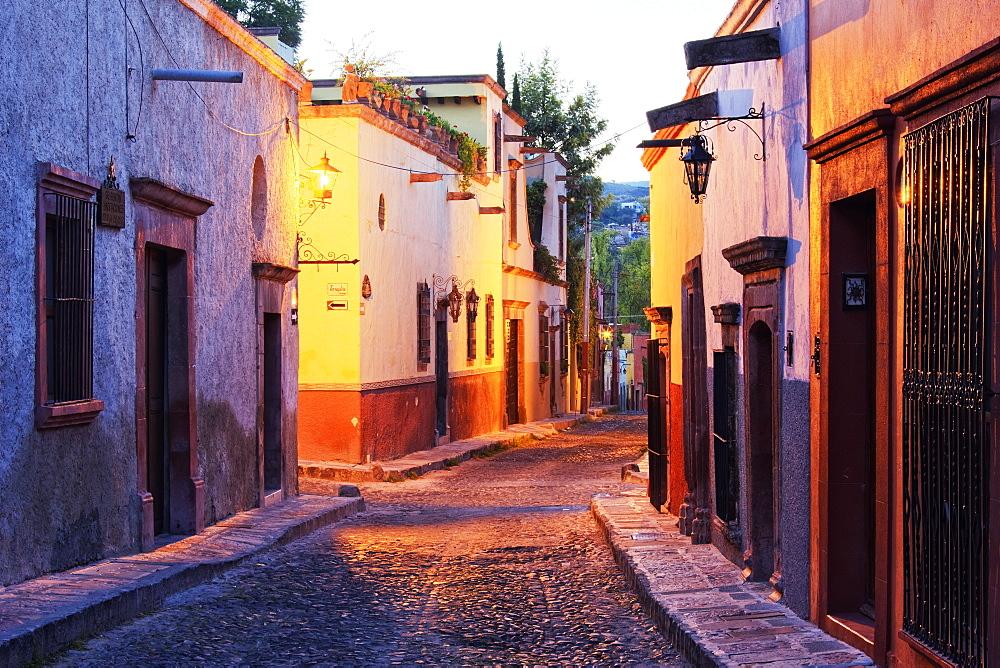 Old World Street Scene, San Miguel de Allende, Guanajuato, Mexico