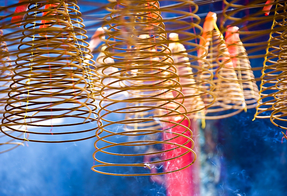 Hanging Incense Coils in Smoke, Saigon, Ho Chi Minh City, Vietnam